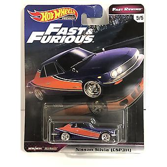 Hot Hjul Rask og Rasende Ekte Ryttere Nissan Silvia (CSP311) GHH19 Rask Spol tilbake