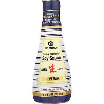 Kikkoman Sauce Soy Double Fermentd, Case of 12 X 6.8 Oz