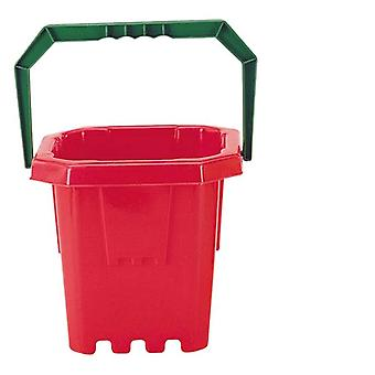 Bucket with Handle Castle Red