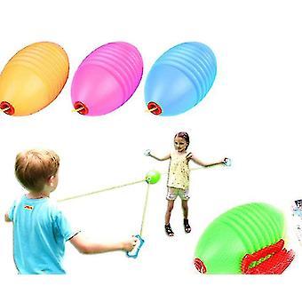 Los niños tiran de la bola de lanzadera, zip y zoom ball, doble fitness bola deslizante (naranja)