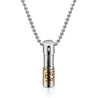 Women Necklace Openable Cylindrical Titanium Essential Oil Bottle Perfume Aromatherapy Stainless