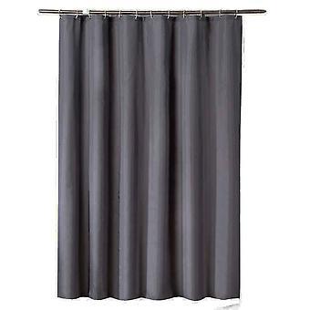 Solid Bathroom Waterproof Shower Curtain With Hooks