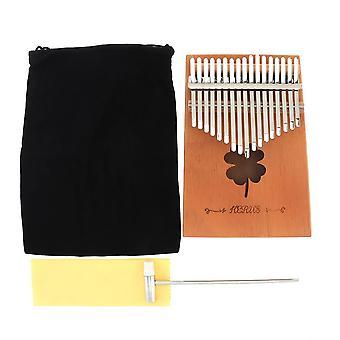 17 Key kalimba thumb piano single board mahogany / pine hole mbira mini keyboard instruments with accessories