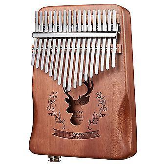 Kalimba Tommel Piano 17 Keys Elektrisk Boks Eq Bærbar Musikkinstrument For Ytelse