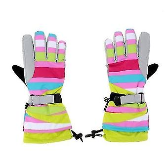 Gloves mittens 2pcs winter windproof thermal skiing skating gloves