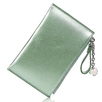Multifunctional mini pearlescent laser creative coin purse(Green)
