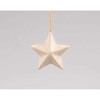 Papier Mache Star Christmas Bauble à décorer - 50mm | Papier De Noël Mache