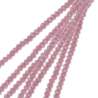 Crystal Beads, Faceted Rondelle 1.5x2.5mm, 2 Strands, Opaque Dark Purple