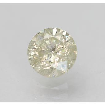 Sertifioitu 0,64 karat I SI2 pyöreä brilliant parannettu luonnollinen löysä timantti 5,35mm