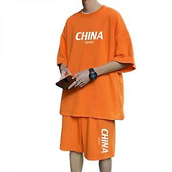Short-sleeved Ice Silk Suit Casual Sports Basketball Uniform