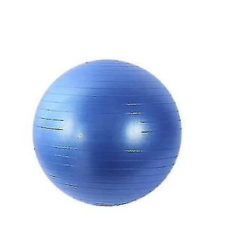 Frosted Texture Professional Yoga Ball Anti Burst Thickened Balance Training(BLUE)