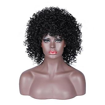 Women Short Afro Kinky Curly Wig Synthetic Hair Full Wigs Fashion Cosplay Daily