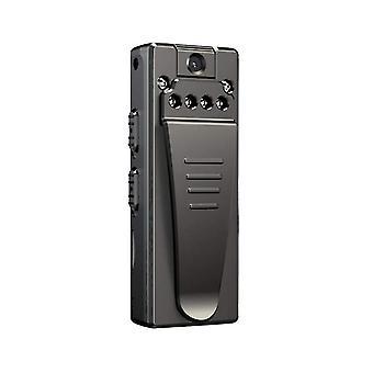 Mini cámara grabadora 1080P pequeña mini cámara inalámbrica, adecuado para la seguridad, cámara - 16GB (Negro)