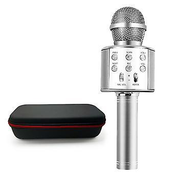 Langaton Bluetooth-mikrofoni Kädessä pidettävä Karaoke Mic Usb Mini Home KTV Musiikille