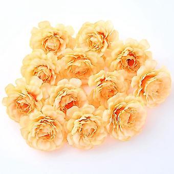 الزهور الاصطناعية 5cm الحرير ارتفع رئيس الزفاف سينا باقة اليد الطرف المنزل حديقة diy ديكور عيد الميلاد هدية اكليل scrapbooking