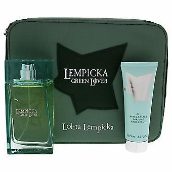 Parfymset för män Lempicka Green Lover Lolita Lempicka (3 st)