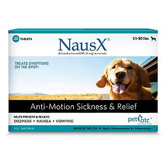 Pet OTC NausX Anti-Motion Sickness Treatment for Dogs 51-90 lbs - 30 count