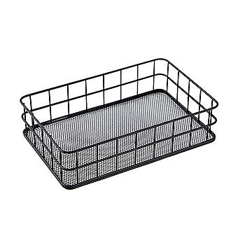 2Pcs Muiltifunctional סל אחסון הבית איפור מברשות מחזיק סלון סלון תפאורה ברזל Organizer