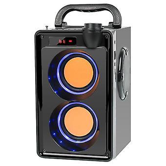 Draagbare 20W Bluetooth Speaker Big Power Draadloze Stereo Bass Subwoofer FM Radio  (Zwart)