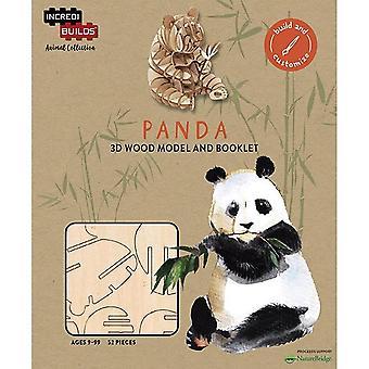 IncrediBuilds Animal Collection Panda 3D Wood Model