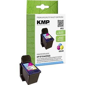 Tinta KMP sustituye HP 57 Compatible cian, Magenta, amarillo H12 0995,4570
