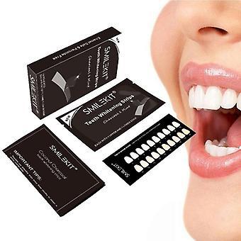 الفحم تبييض الأسنان شرائط الأسنان تبييض عدة العناية بالنظافة الفموية لصق المنشط شرائط أسنان الكربون