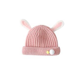 Autumn Winter Cute Animal Candy Color Children's Super Cute Warm Woolen Knitted Hat
