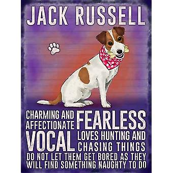 Medium Wall Plaque 200mm x 150mm - Jack Russell by The Original Metal Sign Co