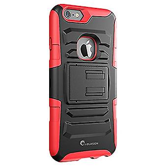 i-Blason- iphone 6 plus, iPhone 6 5.5, Prime Series Dual Layer Holster Case-Red