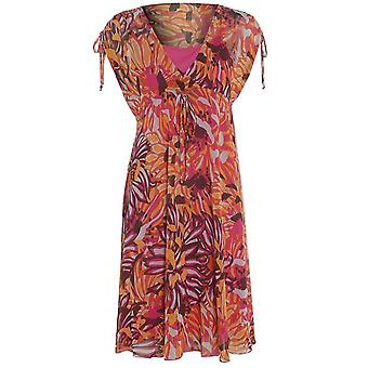M & S blomstret Chiffon kjole DR770-6
