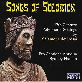 Pro Cantione Antiqua - Salamone De' Rossi: The Songs of Solomon [CD] USA import