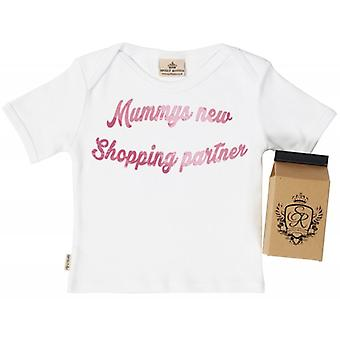 Spoilt Rotten Mummys New Shopping Partner Babys T-Shirt 100% Organic In Milk Carton