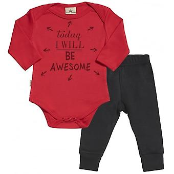 Spoilt Rotten Today I Will Be Awesome Babygrow & Baby Jersey Trousers Outfit Set