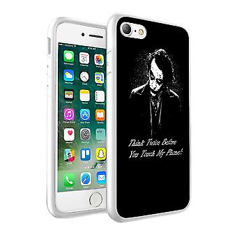 i-Tronixs LG K10 2017 Think Twice Before You Touch My Phone Design Printed Case Skin Cover - 006