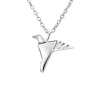 Origami Bird - 925 Sterling Silver Plain Necklaces - W26049x