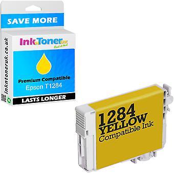 Epson T1284 amarillo cartucho de tinta compatible (c13t12844011)
