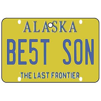 Alaska - Best Son License Plate Car Air Freshener