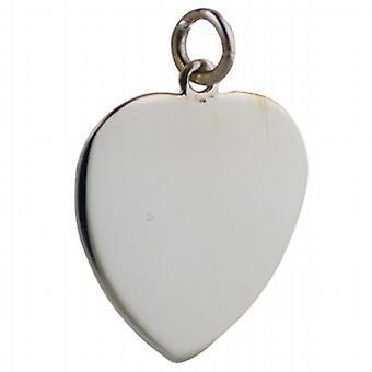 Strieborná 24x21mm obyčajný srdcový disk