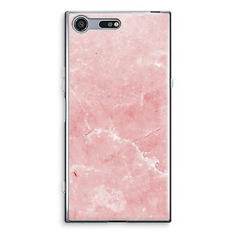 Sony Xperia XZ Premium-transparentes Gehäuse (Soft) - rosa Marmor