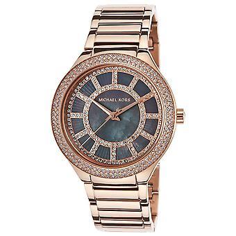 Michael Kors Kerry Rose Gold Crystal Bezel Ladies Watch MK3397