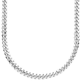 スターリング 925 シルバー縁石チェーン - マイアミ キューバ 5 mm