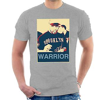 Mike Tyson autografy Brooklyn wojownik plakat styl Men's T-Shirt