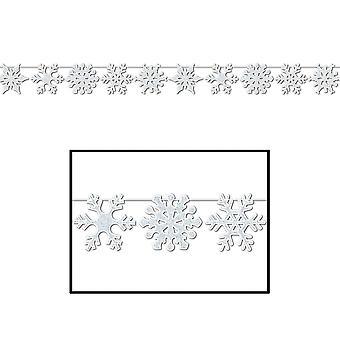 Glitzerte Schneeflocke Streamer