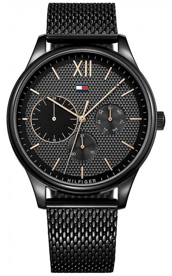 Tommy Hilfiger Men's Damon Black IP Mesh 1791420 Watch