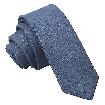 Dunkel blau Hobsack Leinen schmaler Krawatte