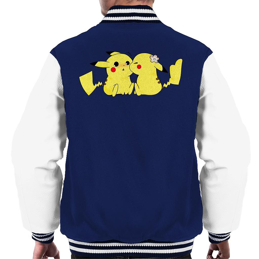 Pokemon Pikachu elsker kyss menn Varsity jakke | Fruugo NO