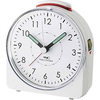 TFA Dostmann 60.1513.02 radio alarm klokke hvit fluorescerende hender