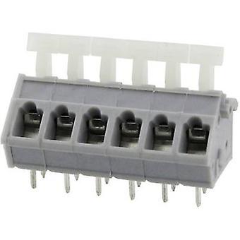 Degson DG243-5.0-08P-11-00AH-1 Veerbelaste terminal 3,31 mm² Aantal pinnen 8 Grijs 1 st(en)