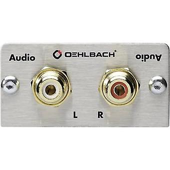 Oehlbach PRO IN RCA stereo (R/L) Multimedia inset + gender changer