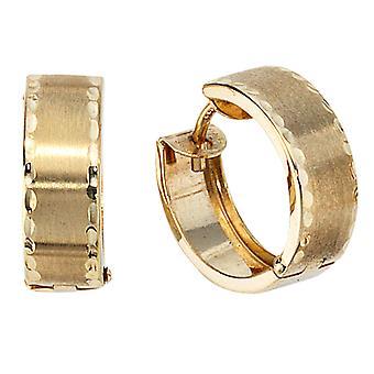 Hoops 333 /-g-guld hoop örhängen hoop guld 333 delvis frostat Klappcreolen